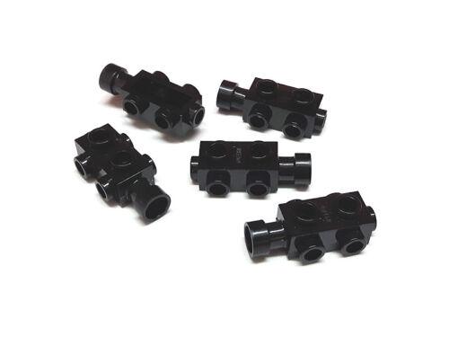 LEGO Bau- & Konstruktionsspielzeug 4523339 Lego Stein Modifiziert 1x2x2/3 mit Noppen auf Seiten Schwarz 5 Stück LEGO Bausteine & Bauzubehör