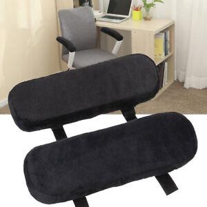 1 Pair Memory Foam Armrest Cushion-Pads Elbow Arm Rest Cover Chair Armrest Pads