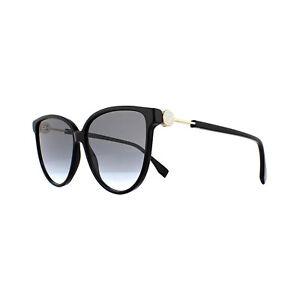 Fendi Sunglasses Ff 0345 S 807 Gb Black Grey Gradient Ebay