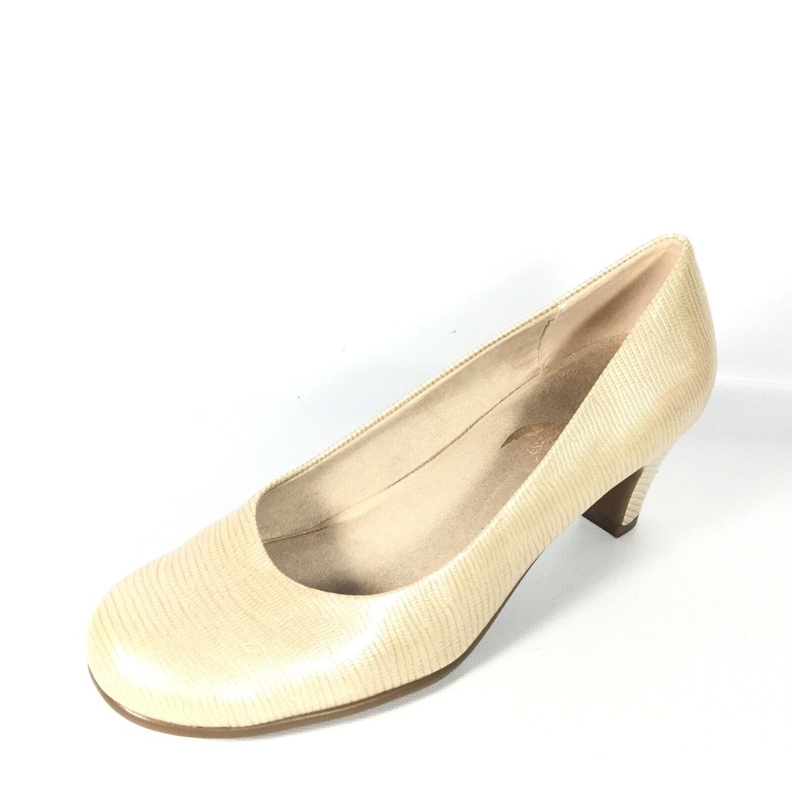 Aerosoles Nice Play Women's Size 7.5 Nude Lizar Heel Pump shoes.