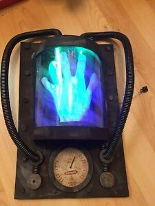 animated mad scientist laboratory lights up screams electric hand fuse box  prop | ebay  ebay