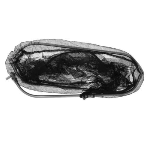 Edelstahl dreieckigen Ring Nylon Angeln Kescher Kopf 40cm breit schwarz