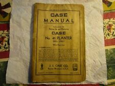 Rareantiquecase No 41 Tractor Planter Drill Only With Parts Catalog