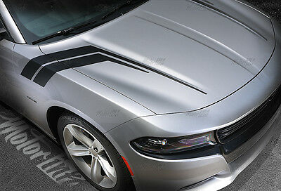 2011-2018 Dodge Charger Thunderbolt  Hood to Fender Side Rally Stripes Decals