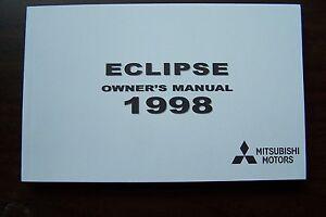 1998 mitsubishi eclipse owners manual parts service original new rh ebay co uk 1999 mitsubishi eclipse owners manual mitsubishi eclipse cross owners manual