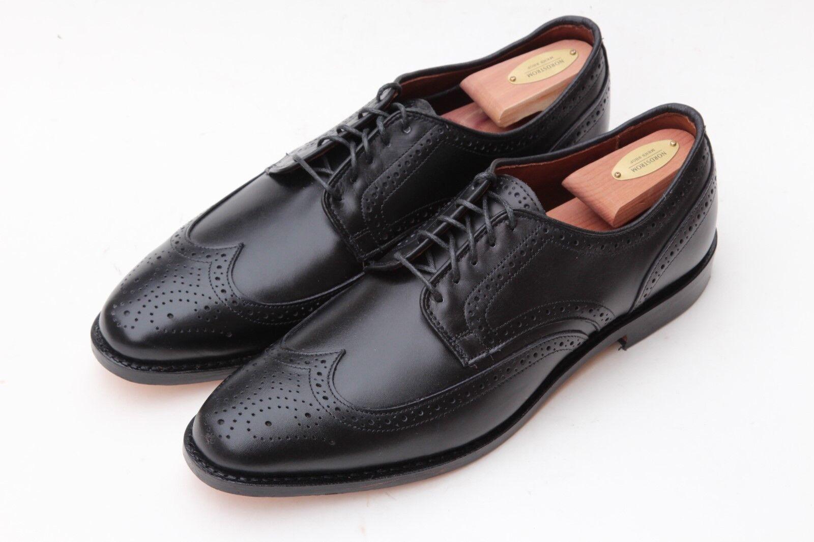 Allen Edmonds 'Stuttgart' Black Wingtip bluecher Oxford shoes Size 11 D  395