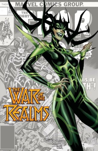 WAR OF THE REALMS #1 J SCOTT CAMPBELL Variant Cover Hela!