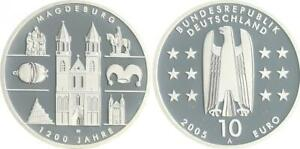 10 Years Magdeburg 2005 Mint Mark A Proof, IN Coin Capsule