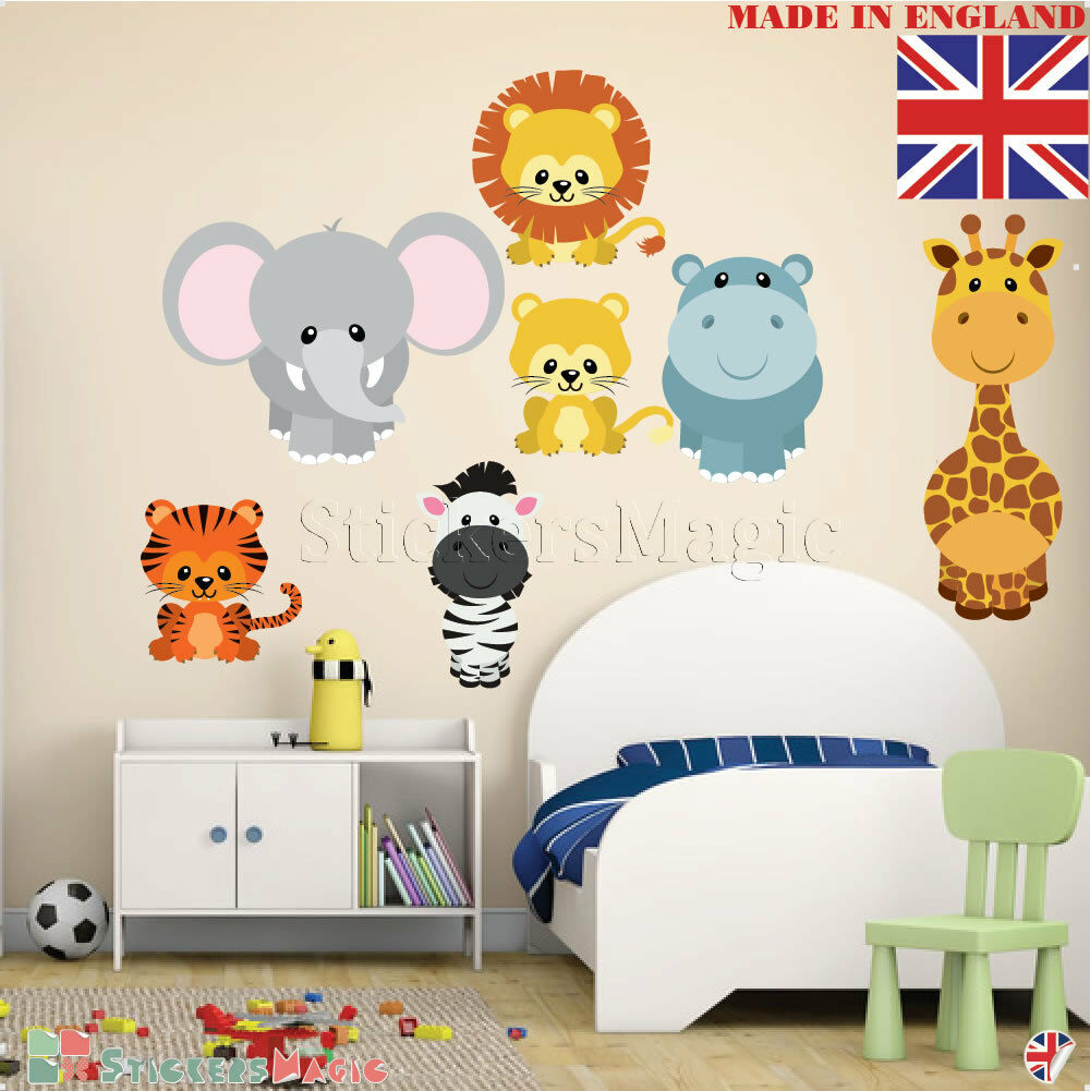 England Flag  Personalised Border Name Childrens Wall Sticker Transfer Decal