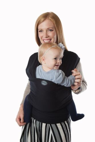 Authentic MOBY EVOLUTION BAMBOO Baby Wrap//Carrier//Sling-BLACK-Great for newborns