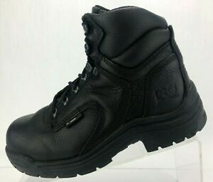 Timberland-PRO-Titan-Safety-Toe-Boots-Black-Leather-Work-Ankle-Shoes-Womens-7-M