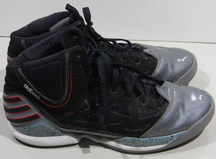 Adidas männer uns adizero ros - basketball - schuhe 11m uns männer schwarz - silber 365023