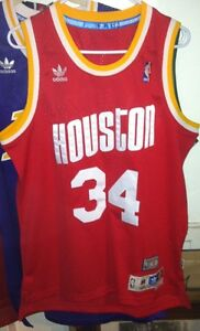 3d39e1ce9 Image is loading Hakeem-Olajuwon-Adidas-HWC-NBA-Houston-Rockets-Jersey-