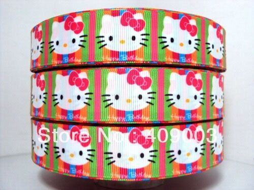 """Hello Kitty Ribbon 1/"""" Wide 1m is only £0.99 NEW"""