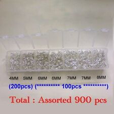 1 Box Silver Plated Metal Jump Rings - approx. 1500pcs / 0.9mm thickness - A6305
