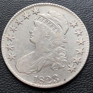 1823 Draped Bust Half Dollar 50c High Grade XF - AU #29248