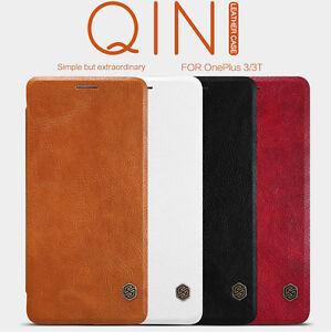 Hot-Nillkin-Qin-Flip-Mat-Cuir-emplacements-de-carte-Housse-de-telephone-cas-pour-OnePlus-3-3T