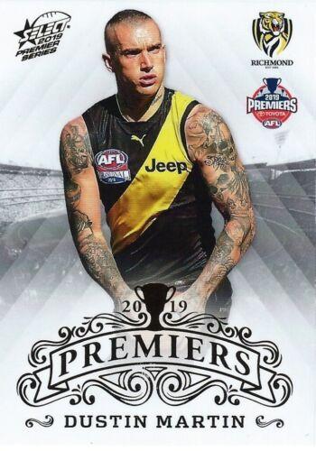 5 of 25 ✺Mint✺ 2019 RICHMOND TIGERS AFL Premiers Card DUSTIN MARTIN