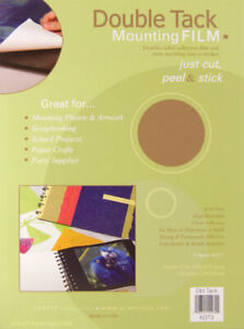 """Grafix Double Tack Mounting Film 9"""" x 12"""" Clear Permanent Adhesive 3 Sheets"""