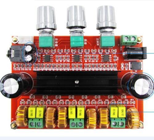 DC12V-24V 2*50W+100W 2.1 Channel digital Subwoofer Amplifier Board TPA3116D2