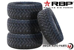4 RBP Repulsor M/T LT265/75R16 123/120Q E All Terrain Mud Truck Tires MT
