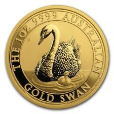 100 Dollar Australia 2018 BU - 1 OZ Australian Gold Swan 2018