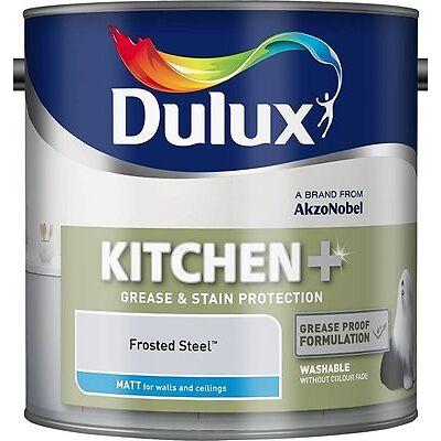 Dulux 500000 2.5 Litre Kitchen Plus Matt Paint - Frosted Steel