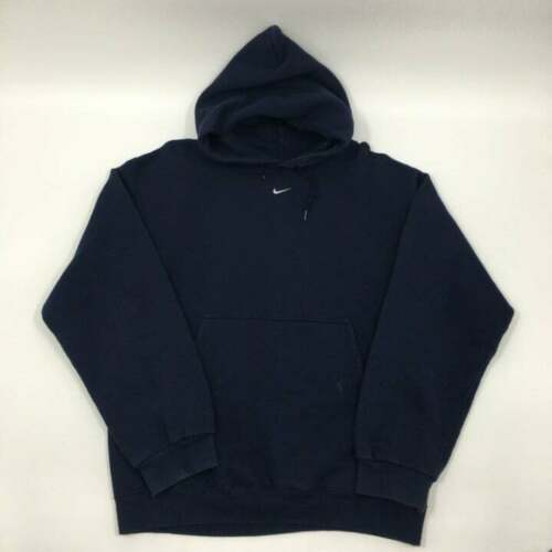Navy blue Nike Center swoosh hoodie travis scott