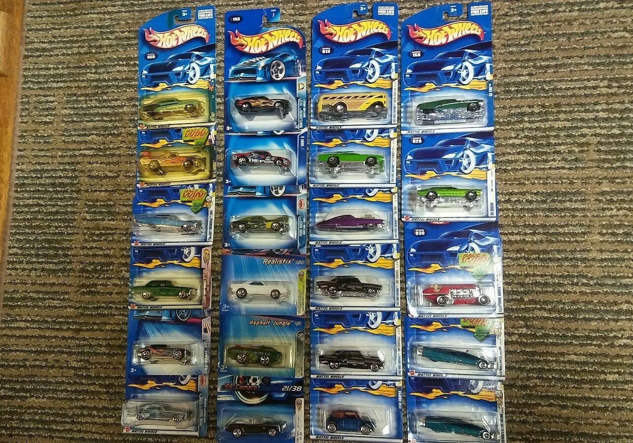 Lot of 23 NOS 2001-2006 Hot Wheels First Editions & Other Series Cars NIP