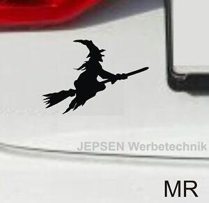 Hexen-Aufkleber-Autoaufkleber-10cm-Hexe-S031-Motiv-MR-schwarz-matt