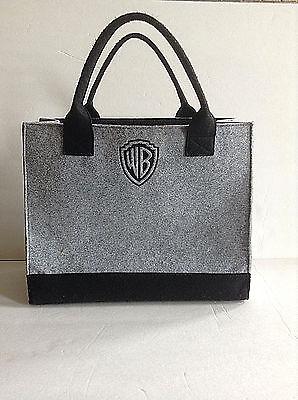 Warner Brothers Felted Handbag Gray Black WB Logo