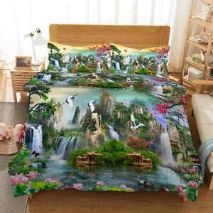 Mountain Wood Loft 3D Printing Duvet Quilt Doona Covers Pillow Case Bedding Sets