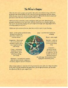 Details about Book of Shadows Spell Pages ** Planting a Witch's Garden **  Wicca Witchcraft BOS