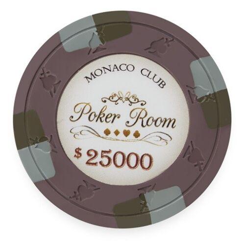 Buy 2 50 Brown $25000 Monaco Club 13.5g Clay Poker Chips New Get 1 Free