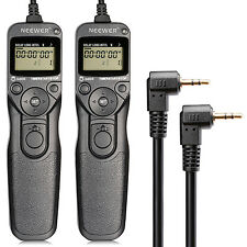 2-pack LCD Timer Shutter Release Remote Control Cord for Canon T4i/650D