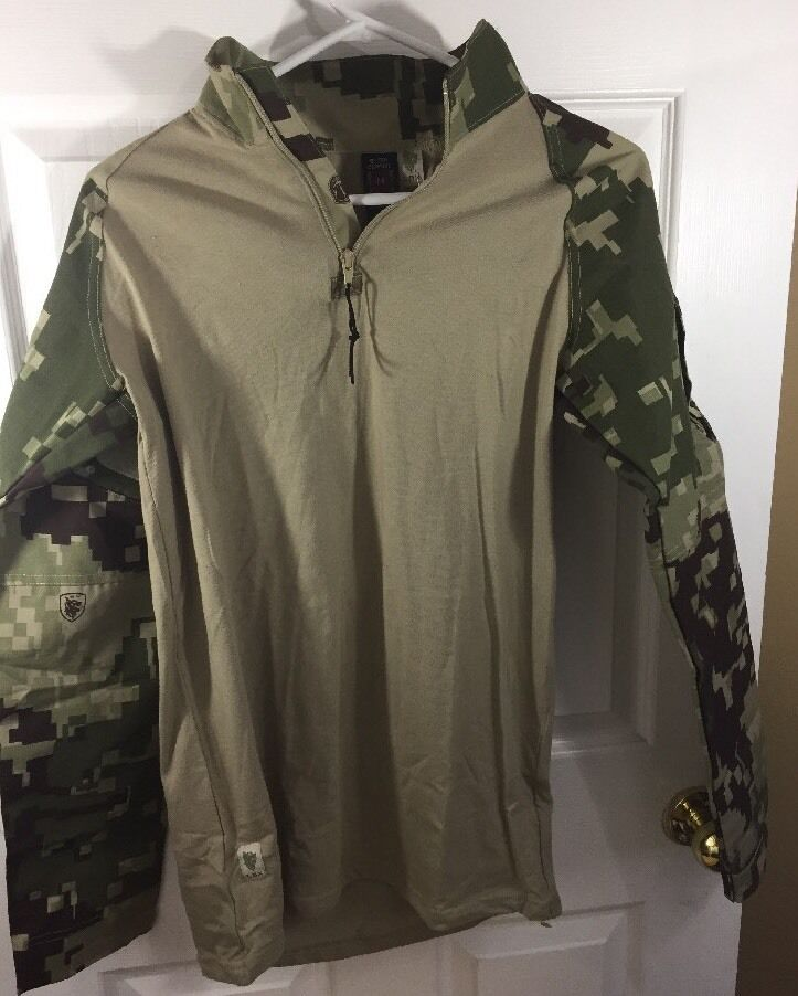 LBX Binter Defense Sm Digital Camo Long Sleeve Camouflage Combat Shirt New