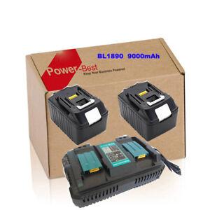 For-Makita-Akku-Set-Ladegeraet-DC18RD-2x-BL1890-18V-9-0Ah-BL1850-BL1840-DE-NEU