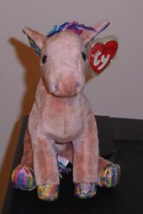 Ty Beanie Baby ~ HORSE (Chinese ZODIAC)(Full Hooves   Sparkle Ears ... 709724ee0f38
