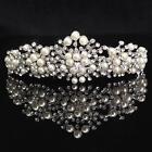 Pearl Princess Wedding Bridal Prom Party Crystal Flower Hair Band Headband Tiara
