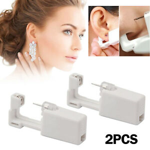 Professional Steel Ear Nose Navel Body Piercing Gun Studs Tool Kit 2pcs G
