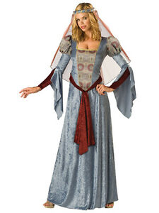 Adult-Ladies-Maid-Marian-Fancy-Dress-Costume-Medieval-Marion-Robin-Hood-Outfit