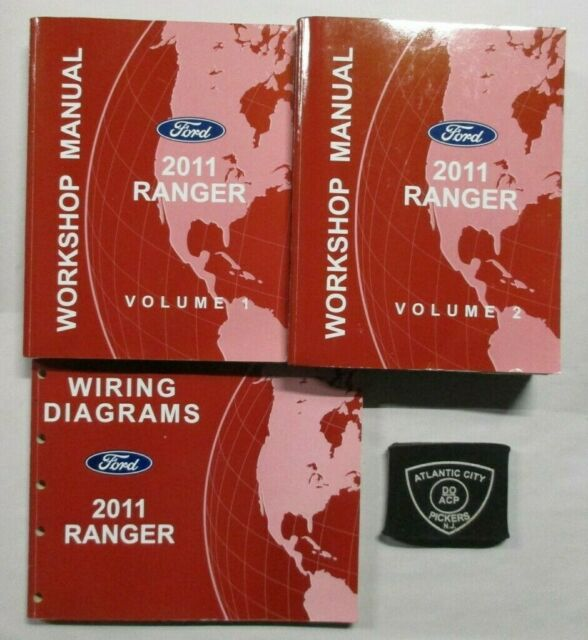2011 Ford Ranger Service Shop Repair Manuals  U0026 Wiring Diagrams Set