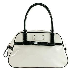 Image Is Loading Kate Spade Bowarama Simone White Patent Leather Bow