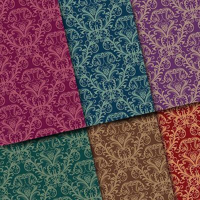 exclusive 48/ 24pc Classic Elegant Damask floral scrapbook paper 6 design