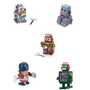 5pcs-Jouets-Mecaniques-Anciens-Robot-en-Metal-Collection-Cadeaux-Enfants