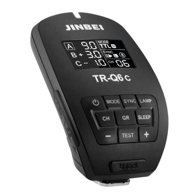 Jinbei TR-Q6/C Canon 2.4GHz HSS TTL Bluetooth Flash Trigger for HD-610, Mars-3