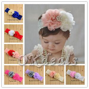 new kids baby girl toddler flower headband hair band