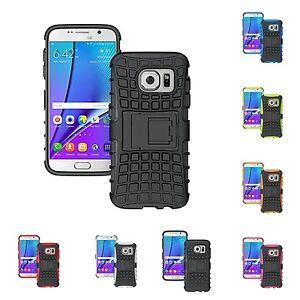 para-Samsung-Galaxy-S7-EDGE-Resistente-Rugoso-Doble-Capa-Soporte-Funda