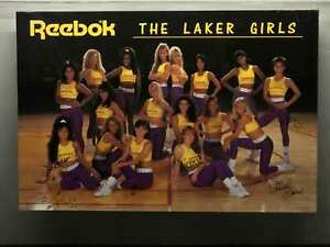 Vintage-Reebok-L-A-Laker-Girls-Autograph-Signed-Team-Issue-Photos-Los-Angeles
