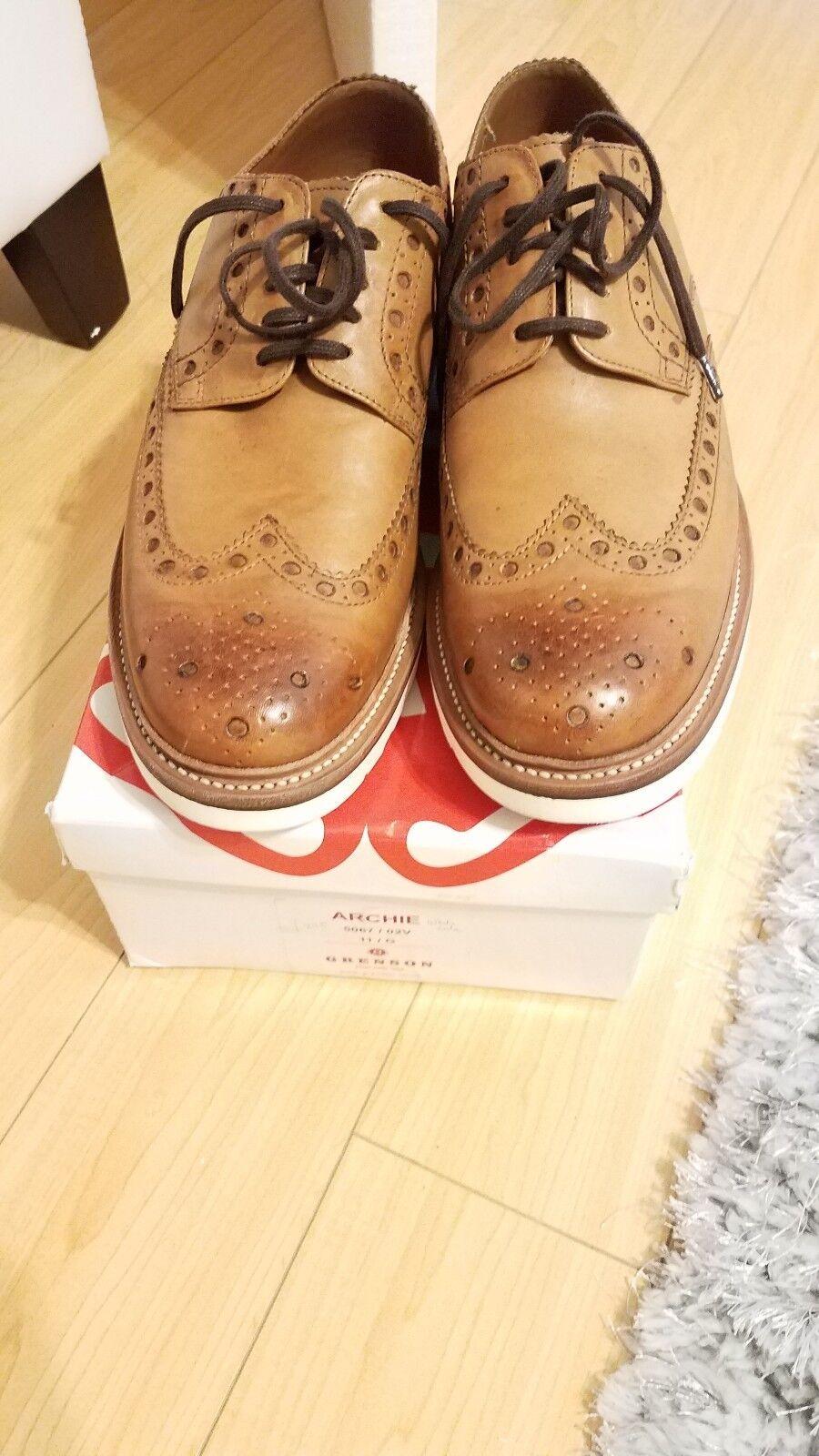 Hombres Grenson Oxford Zapatos Cuero